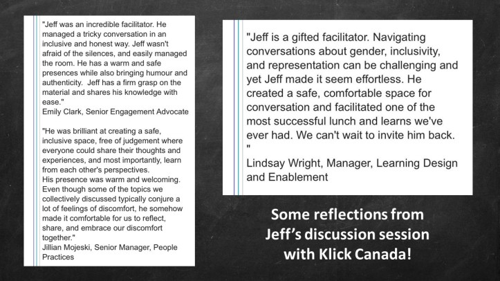 Klick Canada testimonial slide