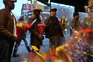 New Yorkers Buy Flowers For Valentine's Day