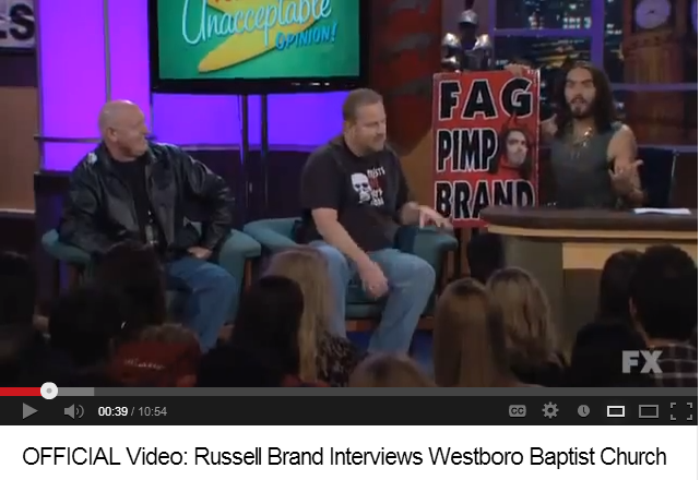 OFFICIAL Video- Russell Brand Interviews Westboro Baptist Church - YouTube